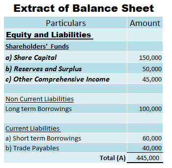 Equity in Balance Sheet